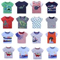 ingrosso t-shirt cartoon animale per bambini-T-shirt bambino animal cartoon T-shirt bambini ragazzi stampa maglietta estiva Tees 2018 nuova Boutique abbigliamento bambini 14 colori C3884