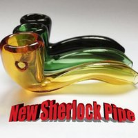 Wholesale lighting potted - Heady Spoon Pipes For Smoking LabsHeady Glass Sherlock Glass Hand Pipe Pot Smoking Tobacco Spoon Pipes high quality cheap price