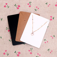 6*9cm 100pcs lot Jewelry Display Card Price Tag Kraft Paper Earring Holder Necklace Cards Can Custom Logo