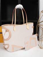 Wholesale d lady handbags online - pink printing Fashion Genuine Leather women handbag CM Composite bag cx lady Totes SET Shoulder Bags N41050 have dust bag
