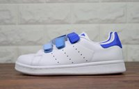 Wholesale magic leather - Hot sell Classic style Stan Smith Shoes men women Athletic Shoes 36-44 White color musial magic button Stan Smith Skateboarding Shoes