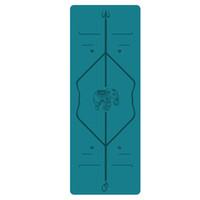ingrosso lo stuoia di yoga si allarga-Nuovo stuoia di yoga 2.5MM stuoia di gomma professionale antiscivolo fitness mat ispessito ampliato 68cmPU linea di corpo yoga