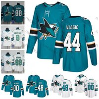 Wholesale 48 sharks jersey - 2018 San Jose Sharks Hockey #44 Marc-Edouard Vlasic 48 Tomas Hertl 47 Joakim Ryan 50 Chris Tierney Teal Green White New Jerseys S-60