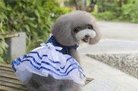 vestidos de casamento do carnaval venda por atacado-F30 cão doce vestido pet princesa vestidos de cachorro filhote de cachorro saias de casamento gato verão vestidos bonitos frete grátis