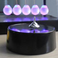 Wholesale magnetic gyro - Magical Intelligent Moving Magnetic Gyroscope Gyro Perpetual Motion Never Stopping Classic forever Finger spinner for Adult