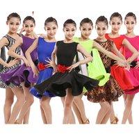 ballsaal dancewear großhandel-Ballroom dancing Kleider für Kinder Kind Kind Rock Kinder professionelle Latin Dancewear Mädchen Rumba Cha Cha Salsa Tanzbekleidung