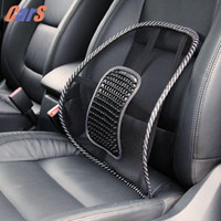 Wholesale lumbar back support chair - Car Seat Chair Back Massage Lumbar Support Waist Cushion Mesh Ventilate Cushion Pad For Car Office Home car styling