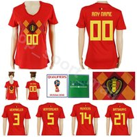 79de53d6e Belgium Women Soccer Jersey 2018 World Cup 3 VERMAELEN 14 MERTENS 15  MEUNIER 5 VERTONGHEN 21 BATSHUAYI Football Shirt Kits Lady Woman Red