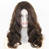 ingrosso le migliori parrucche europee dei capelli umani-Il migliore parrucca ebrea eccellente allentata dei capelli umani europei vergini di Qaility 100% con parrucche kosher di seta 4x4 Top ondulate