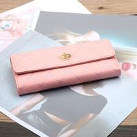 большие телефоны оптовых-ETONTECK Women PU Leather Long Style Wallets Large Capacity Card Holder Phone Pocket Female Handbags  Money Bag