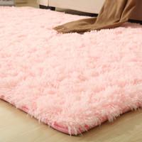 wohnzimmer teppichfarben großhandel-Badezimmer rutschfeste matte 9 farben solide teppiche rosa puple carpet dickeren bereich teppich für wohnzimmer weichen kind schlafzimmer mat vloerkleed