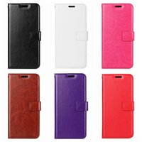 Wholesale crazy pockets - Leather Wallet Case For Moto G6 Plus Play For One Plus 6 For LG G7 Stylo 4 K10 K8 2018 Retro Vintage Crazy Horse Flip Cover ID Card Slot