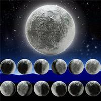 entspannende lampen großhandel-ABS 6 Arten Mondphase LED Wand Mondlampe Mit Fernbedienung Entspannendes Heilmond Weihnachtsnachtlicht für Kinder