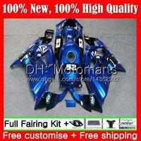 kit carenado negro 98 cbr f3 al por mayor-Cuerpo para HONDA CBR600RR F3 CBR600FS Azul negro CBR 600 F3 97 98 48MT20 CBR 600F3 FS CBR600F3 98 CBR600 F3 1997 Kit de carrocería Fairing