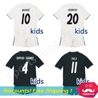 872d93ba4 Real Madrid Set Canada Best Selling Real Madrid Set From Top. 2017 18 Real  Madrid 10 Modric Away Youth Long Sleeve Soccer Jersey