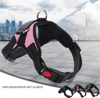 Wholesale dog pull harness - Pet Dog Vest Harness Leash Collar Set No Pull Adjustable Small Medium Large XL T1I421 7colors 30pcs
