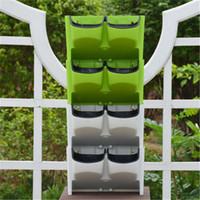 qualität garten lieferungen großhandel-Vertikaler Wand-Pflanzer-selbstbewässernder hängenden Garten-Blumentopf-Pflanzer für Innen-im Freien 2-Pocket stapelbare Qualitäts-Garten-Versorgungsmaterialien