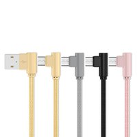 Wholesale right angle usb cables online – 20cm Nylon Braided USB Type C Male double Degree Right Angled to Fast Charging Data Sync Smartphone Cables