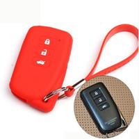Wholesale Car Key Case For Lexus - Keyless Entry Remote Key Cover Fob Skin Case Car Key Cover for Lexus ES300H 350 250 GS250 350 450 NX200 IS460 GX460 GS LS LX RX