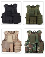 Wholesale outdoor tactical vest for sale - Tactical Vest Wargame Body Molle Armor Hunting Vest Waterproof Outdoor Jungle Equipment Camouflage Battle Vest LJJD18