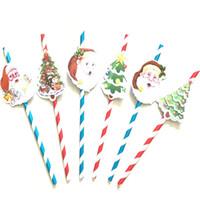 ingrosso decorazioni di paglia di natale-Xmas Decoration Christmas Straw Per Babbo Natale Albero di Natale Carta di carta Straw Knitting Prop Party 3pcs / Set WX9-1006
