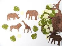animais da selva bebê venda por atacado-glitter Safari selva animais aniversário Confettis Tabela Scatter bebê chuveiro nupcial bachelorette decorações da festa de noivado
