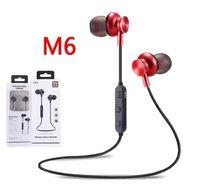 llamada de auriculares bluetooth al por mayor-Auriculares inalámbricos M6 V4.2 Auriculares inalámbricos Cancelación de ruido con micrófono para llamar a S8 DHL gratis.