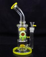 tubos de vidro usa venda por atacado-10.5 Polegada EUA cor bongo de tubo de água de vidro bongo com 8 braço árvore perc AC-08