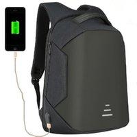Wholesale Usb Baseball - 4 Colors USB Charge Backpack Anti-theft Backpack 16 Inch Laptop Backpacks Unisex Waterproof Backpacks Computer Bags CCA9272 2pcs