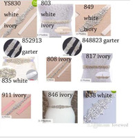 Wholesale Rhinestone Garter Belt - 12Pieces Wedding Belt and 2Sets bridal garter