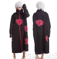 Wholesale itachi uchiha full cosplay for sale - New Unisex Anime Narutos Itachi Uchiha Akatsuki Cape Dust Cosplay Costume Cloak coat