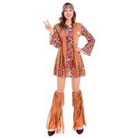 amerikanisches deluxe großhandel-2018 New Sexy Indian Hottie Deluxe Kostüm Powhatan Indianer Kostüm Wildleder Quasten Fancy Dress