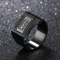 Wholesale steel section - Jewelry Wholesale Creative Classic Charm Ring Hot Section Eternity Titanium Steel Black Men's Steel Wire Ring Men Gifts Accessories G884F