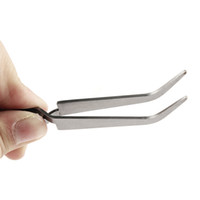 Wholesale art curves for sale - Stainless Steel Curved Nail Art Picking Clip Nipper Tweezers Nippers Pointed Clip Nail Art Tool