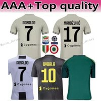 2018 2019 Serie A Juventus RONALDO Jersey 7 Soccer Men White 17 MANDZUKIC  10 DYBALA 14 MATUIDI 19 BONUCCI CRISTIANO Football Shirt Kits 30224bcb9