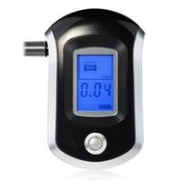 placa de poder do alto-falante venda por atacado-LCD Digital Polícia Bafômetro Bafômetro Analisador de Testador de Álcool Tester AT6000