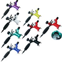 Wholesale high quality tattoo coils - 7 Colors High Quality Tattoo Guns Tattoo Body Art Machine Shader & Liner Assorted Tatoo Motor Kits Supply