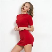 detailed look 86692 44df1 Kaufen Sie im Großhandel Rote Kurze Enge Kleider 2019 zum ...