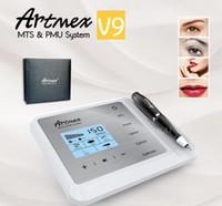 2020 New Arrival Artmex V9 Digital 5 in 1 Permanent Makeup Tattoo Machine Eyeline Lips Rotary Pen MTS PMU Skin Care Derma Pen
