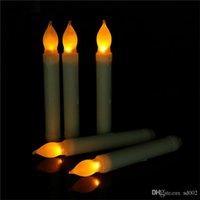 ingrosso candele decorative a batteria-Candele a cono luce a LED Candela elettronica a cono a batteria senza fiamma per matrimoni Decorazioni per feste di compleanno Forniture 2 7ag ii