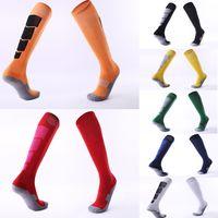 Wholesale outdoor hoses - Free DHL Non-slip Over knee Football Stockings Thicken Towel Bottom Socks Hose Outdoor Sport Socks 8 Styles Custom LOGO G482Q