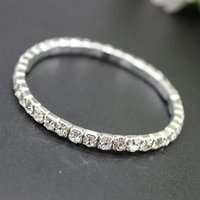 Wholesale bracelet accessories for sale - 2018 Hot Sale Row Rhinestone Bangle Wedding Accessories Bridal Bracelets Wedding Jewelry Cheap Bracelet For Prom