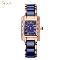 Wholesale Kimio Ladies Watches - Watches Women Kimio Luxury Brand Quartz Wristwatches Golden Dial Fashion Casual Ladies Bracelet watch Women Clock montre femme