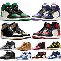separation shoes e7c33 42e5f Mens 1s Top Pine Green Court Lila Chicago OG 1 Spiel Royal Blue Basketball- Schuhe Rückwand Sport Sneaker Designer Trainer Größe 5,5-13
