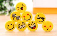 Wholesale mini erasers for kids resale online - Mini Cute Cartoon Kawaii Rubber Smile Face Eraser For Kids Gift School Supplies Korean Papelaria high quality