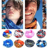 Wholesale adult cartoon scarf online - Mix Color Men And Women Riding Scarf Mask Neck Sleeve Wind Proof Sun Shading Hair Band Outdoors Seamless Magic Scarves xq aa