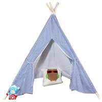палатки типе оптовых-Free Love @blue stripe kids play tent  teepee children playhouse children play room teepee