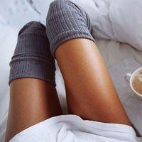 sobre joelho meia menina venda por atacado-Sexy Moda feminina menina Coxa meias altas joelho meias altas 7 Cores bonito Quente Longo Cotton Over The Knee Socks