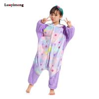 kinder stern pyjamas großhandel-Kids Star Unicorn Pyjamas Kigurumi Onesie Kinder Tier Licorne Nachtwäsche Panda Cosplay Onepiece Pyjama für Mädchen Jungen Overalls