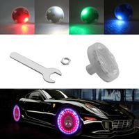 kapak modu toptan satış-15 Pratik Modu Güneş Enerjisi LED Araba Oto Flaş Jant Lastik Jant Vae Cap Neon Işık Lambası Çok Renkli Silikon Dekorasyon